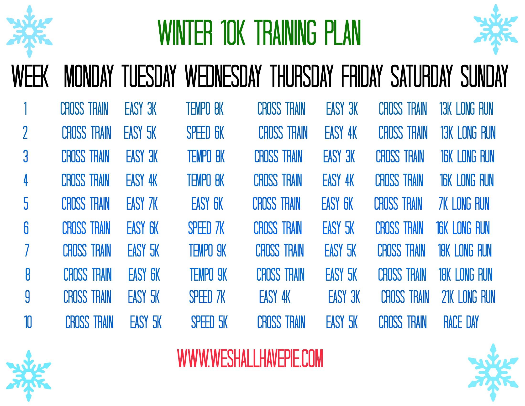 Winter k Training Plan