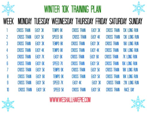Winter Training Plan pic